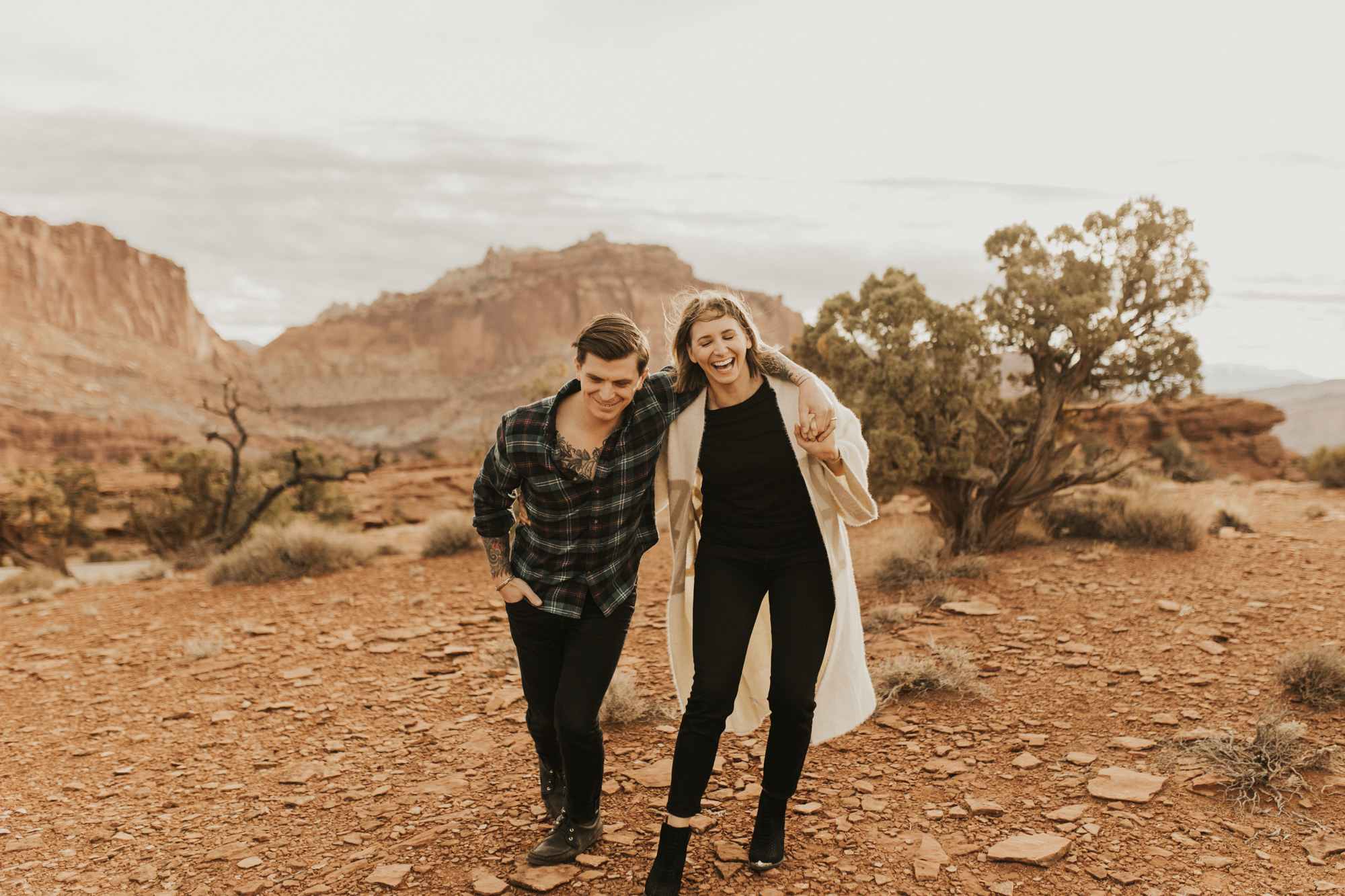 capitol reef national park engagement photoshoot