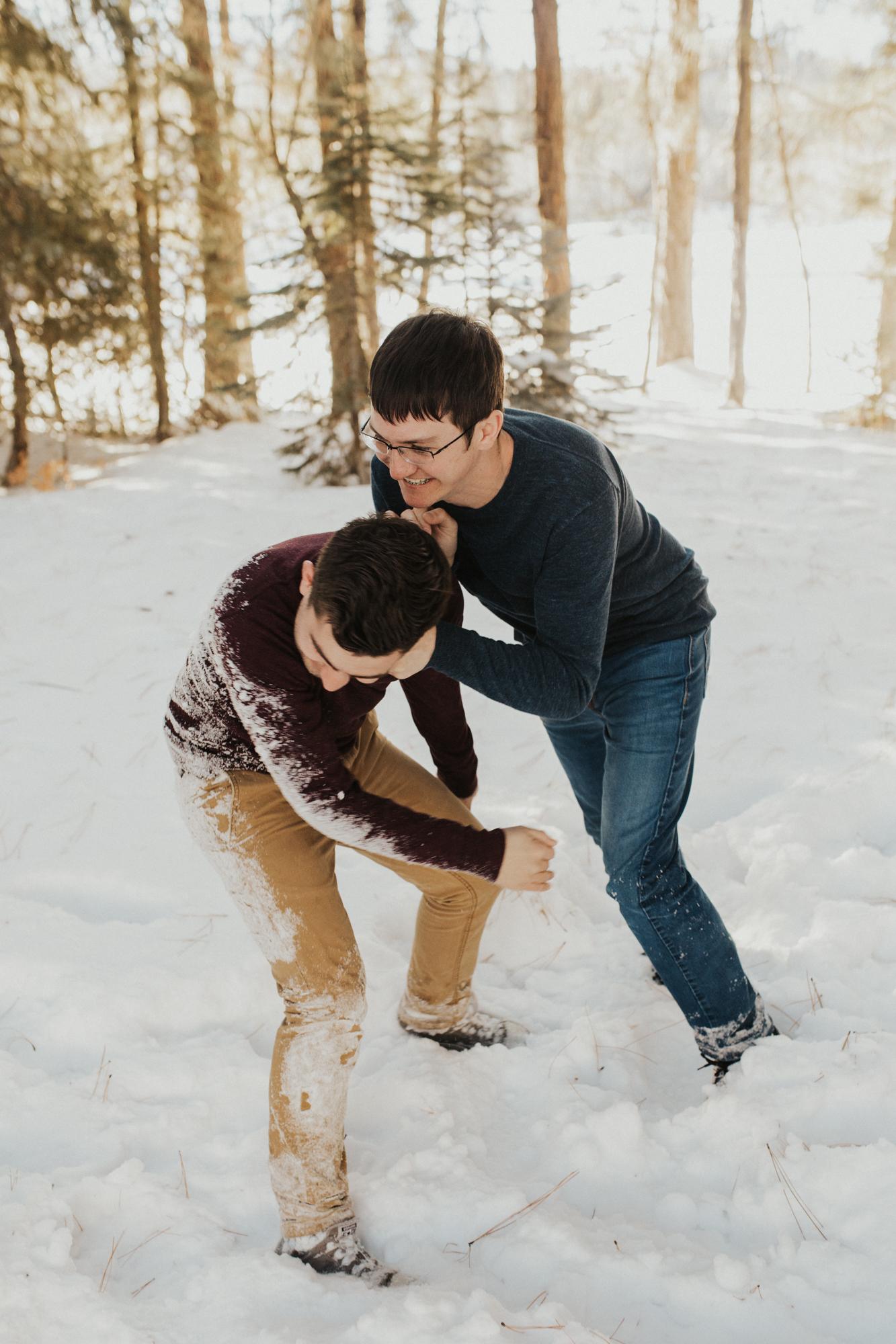 LGBTQ mountain engagement photos