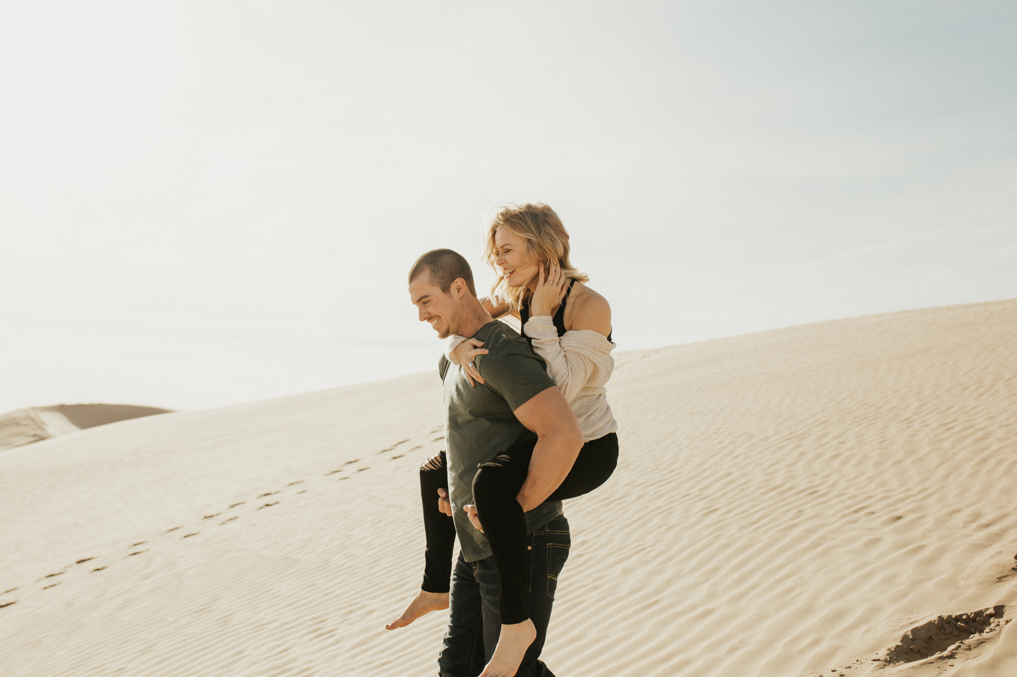 sand dune national park engagement photoshoot
