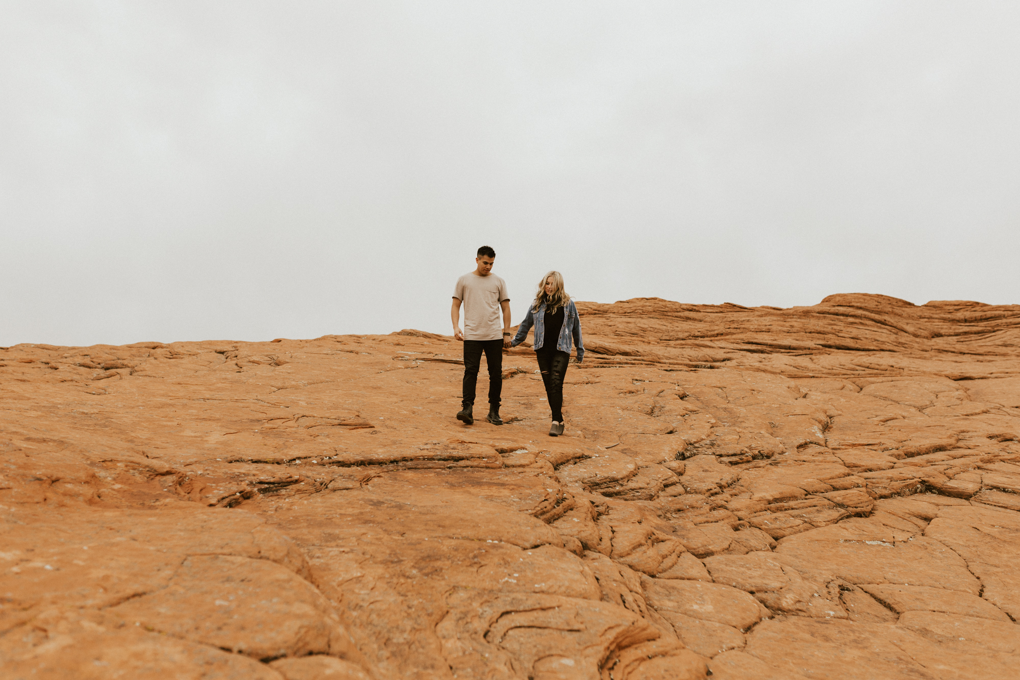 Zions national park engagement photos