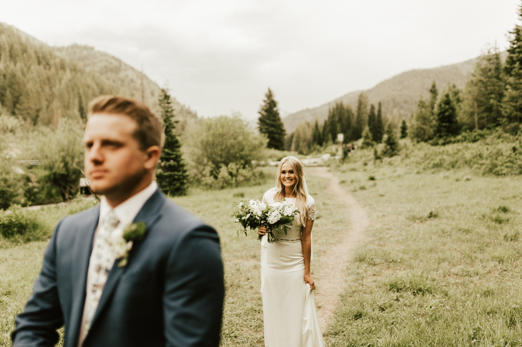 mountain forest bridal session