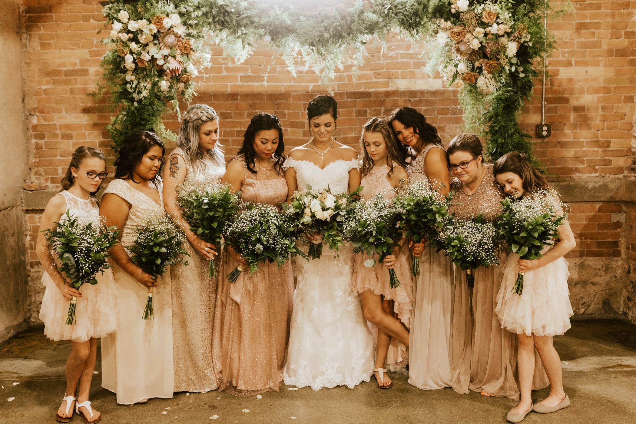 Industrial warehouse wedding photos