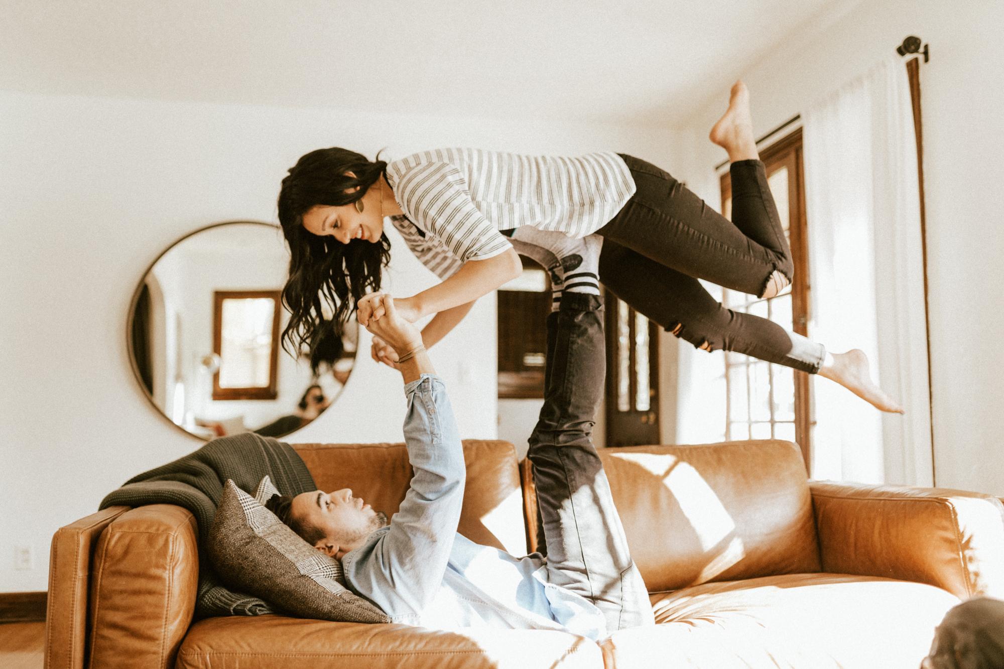 indoor engagement photoshoot