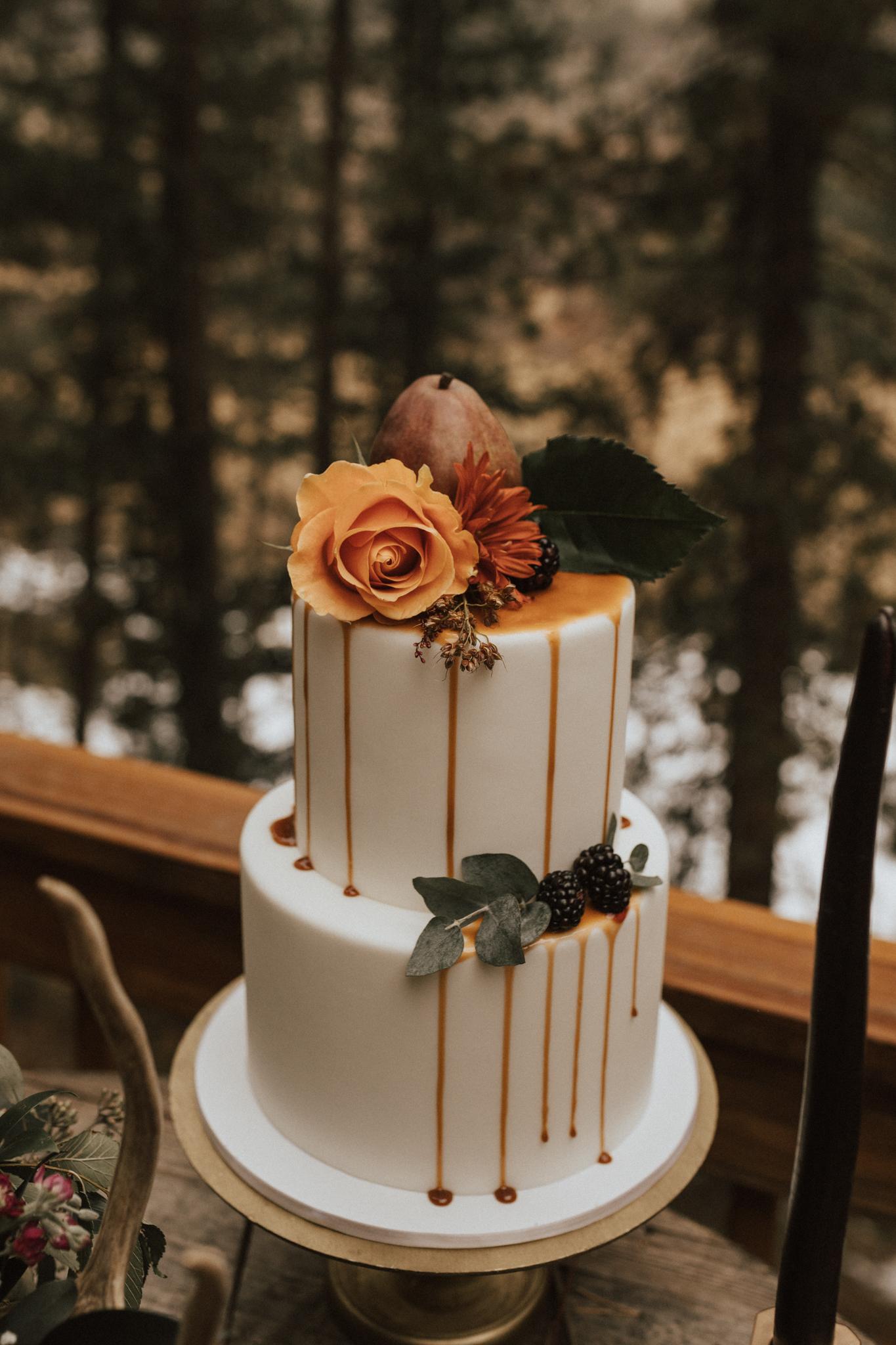 fall mountain elopement wedding