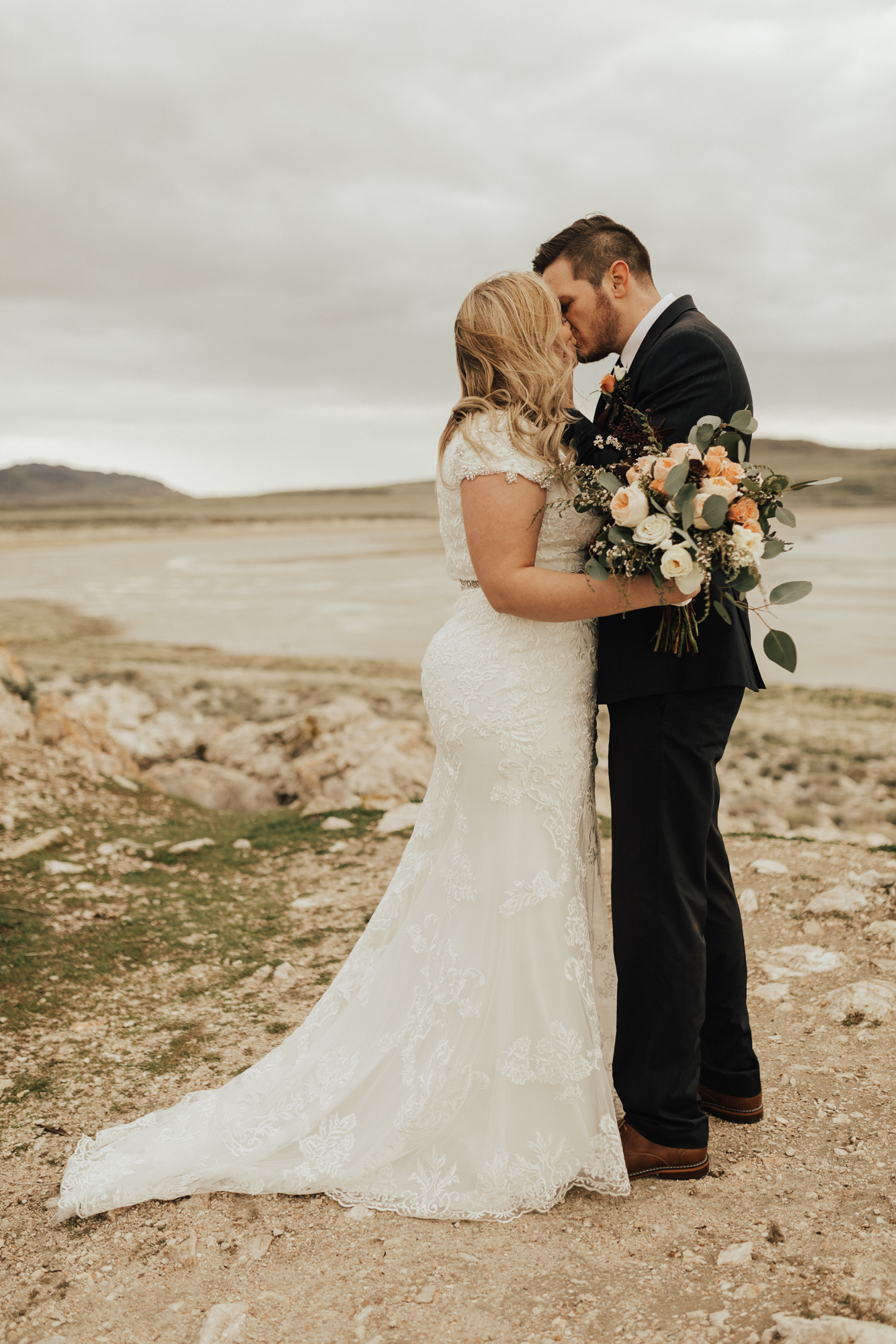 Antelope Island Bridal Photos