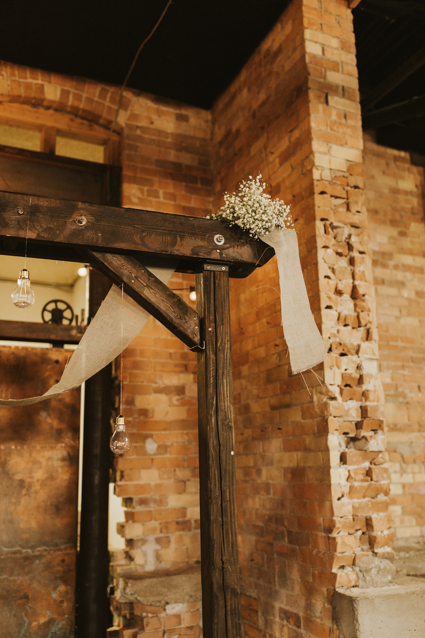Same sex industrial warehouse wedding