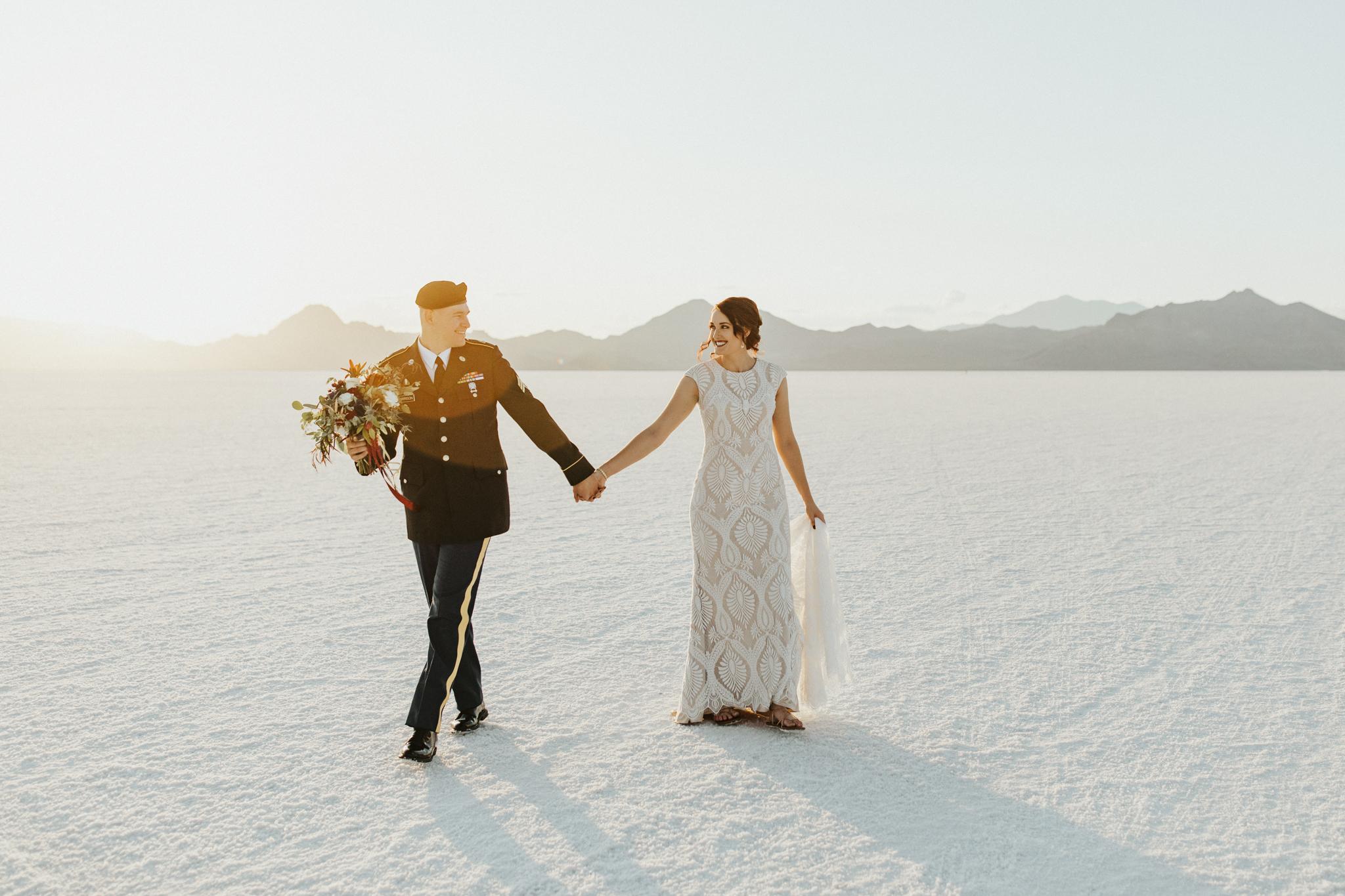 Utah Bonneville Salt Flats Wedding