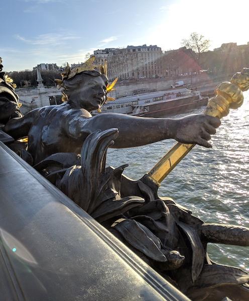 Nymphs of the Seineon the Pont Alexandre III bridge