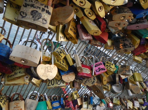 Love Locks on the Pont des Arts bridge