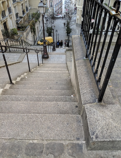 Steep stairs in Montmartre