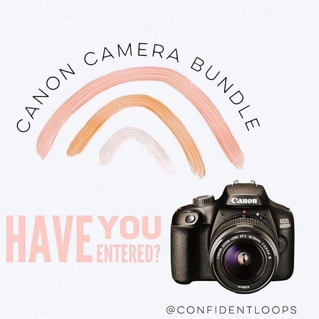 ⋒ HAVE YOU ENTERED?? ⋒  Want a Canon Camera Bundle? Complete with a Canon DSLR Camera, Lens Kit & Accessory Bundle. . . In an effort to show appreciation to all our followers, I've teamed up with an incredible group of women to bring you a chance to WIN your own CANON CAMERA BUNDLE (or PayPal option). Only 3 easy steps to ENTER: ⋒ . . 1. Like this post ❤️ 2. Follow @confidentloops and EVERYONE they are following. ⋒  3. Tag 3 friends in the comments. ⋒BONUS: share in your stories and tag @confidentloops . That's it! Super simple! . Giveaway ENDS TONIGHT Friday May 24 at 11:59pm CST. Winner MUST be following all accounts to win. This giveaway is in no way sponsored or associated with Instagram. By entering, participant confirms they are 18 years or older, releases Instagram and all brands of responsibility and agrees to Instagram's terms of use. Void where prohibited by law & no purchase necessary. Good luck! ⋒