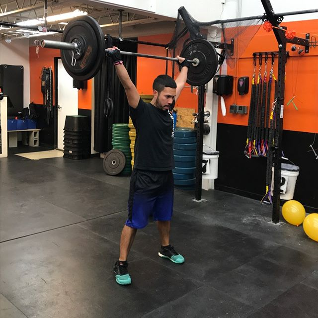 Maxi is here working hard at 5:30am! Dedication and hard work pays off @RevereCrossFit #revere #crossfit #reverecrossfit #fitfam #fitness #healthy