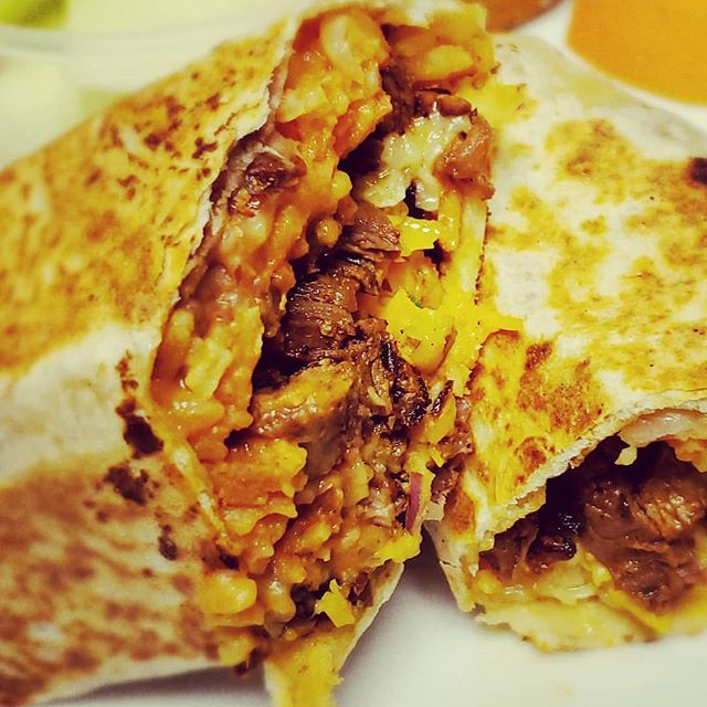 Today Special!! Carne Asada Burrito!! 10 to 3pm. So good!! Includes your choice of side salad.  Only $9.50+tax