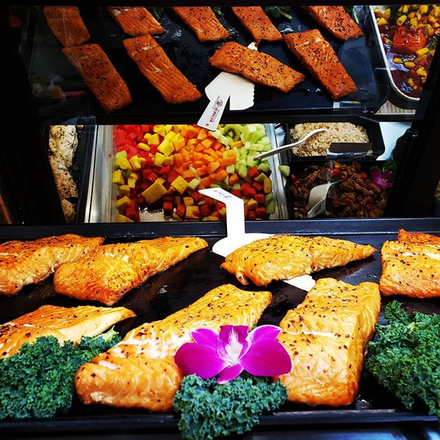 We love our Salmon here at the deli!! Our famous Lemon Herb and Mango Salsa salmon. We are now adding Hickory Smoked Salmon to the case. Smoked in-house! It has so much flavor. Come by try it!! So good!!