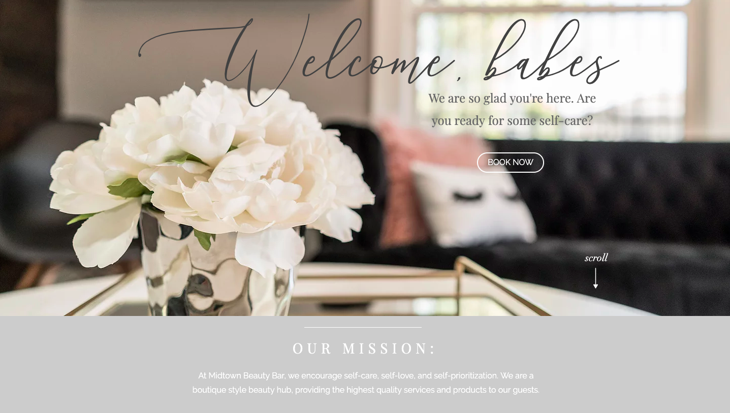 Online bookingfor services -