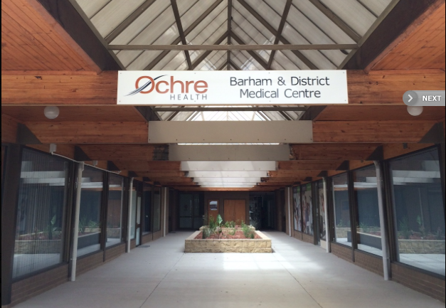 Barham and District Medical Centre - Ochre Medical Centre Barham is the sole medical centre servicing Barham and Koondrook. Doctors working within the Medical Centre also provide after-hours on-call support to the Barham Koondrook Soldiers' Memorial Hospital.A: Barham Plaza, 5 - 9 Mellool St, BarhamP: 03 5453 1722