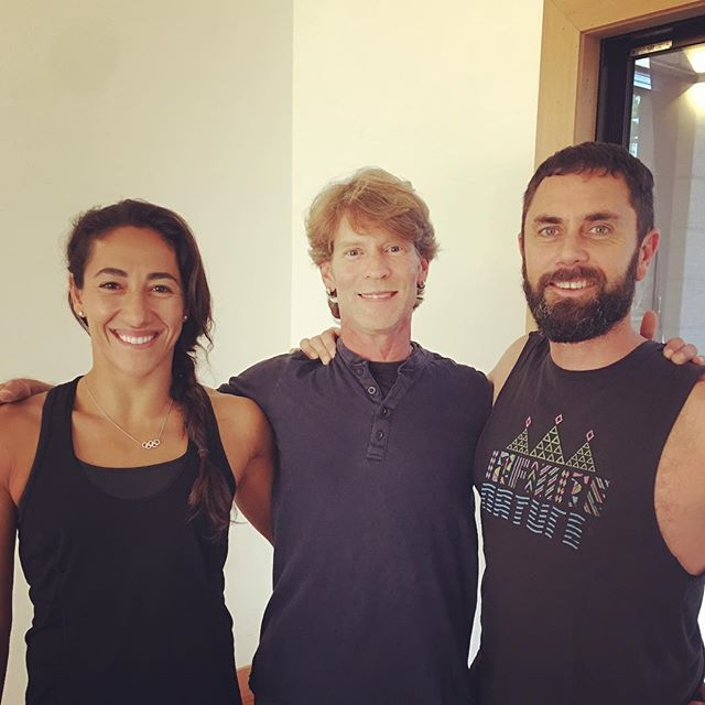 When the best aerial ski  jumper @lydialassila on the planet walks through your door. Like Lydia, without the help of Duncan @yaamethod I would have never had the opportunity to heal and transform a broken body. Duncan's life work on the subject of yoga clearly is profound.  Wow 20 years teaching under his guidance has flown by, his workshops always a reminder to live peacefully and respect the teachings.