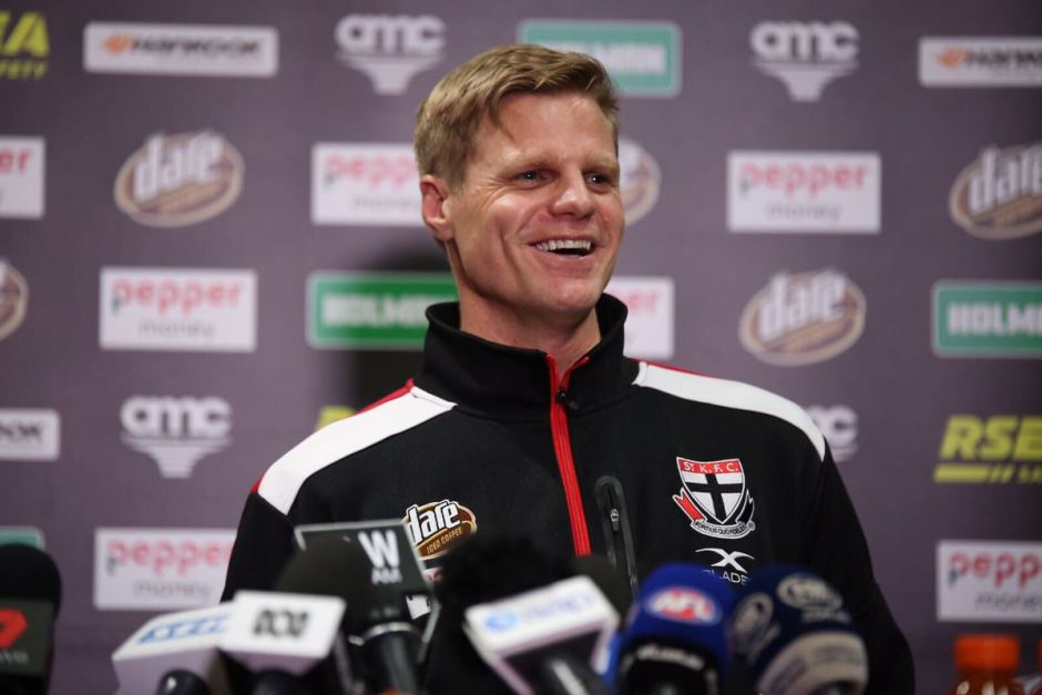 PHOTO:  St Kilda veteran Nick Riewoldt is on the steering committee looking at the way forward for the game in Tasmania. (Twitter: St Kilda Football Club)