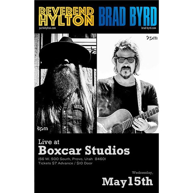 Next week I'll be joining @revhylton in Provo, UT - Wednesday, May 15 (9pm) at @theboxcarstudios and in Denver, CO - Thursday, May 16 (7pm) at @dieboltbrewing. Hope you can make it ... • • • • #livemusic #newalbum #provo #utah #denver #denvercolorado #denver #newmusic #liveband #music #bradbyrd #boxcarstudios #dieboltbrewing #denvermusic #denvermusicscene #provoutahmusic #indie #rock