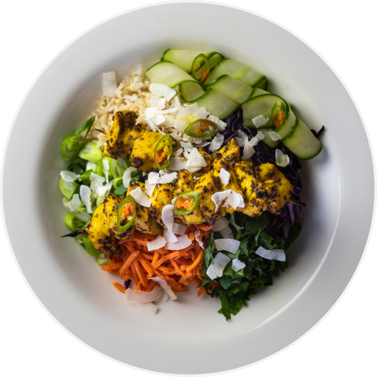 BBR's Turmeric and Coconut Chicken Bowl is perfect for preparing ahead