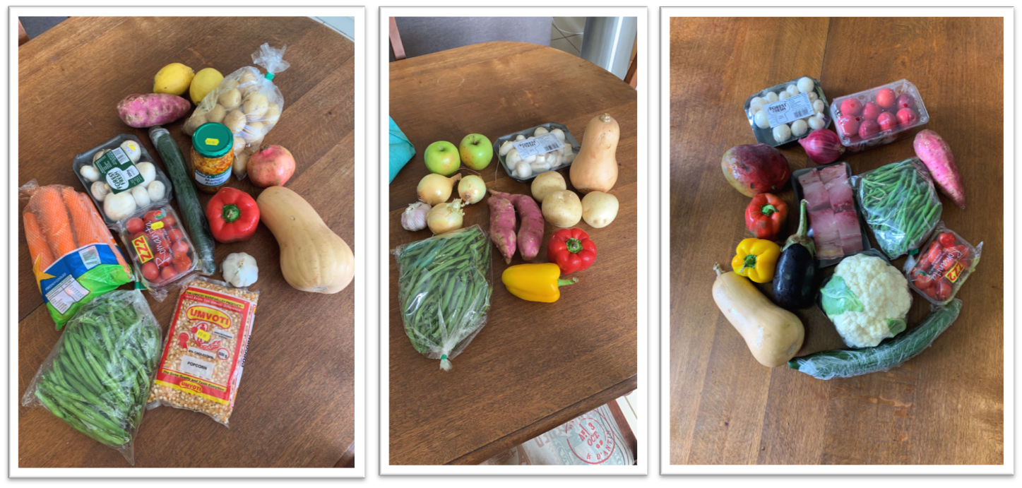 Left picture: R175; Middle picture: R71; Right picture: R215 in total including the fish, but R145 for the vegetables.