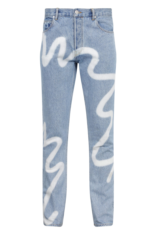 Martine Rose 塗鴉牛仔褲