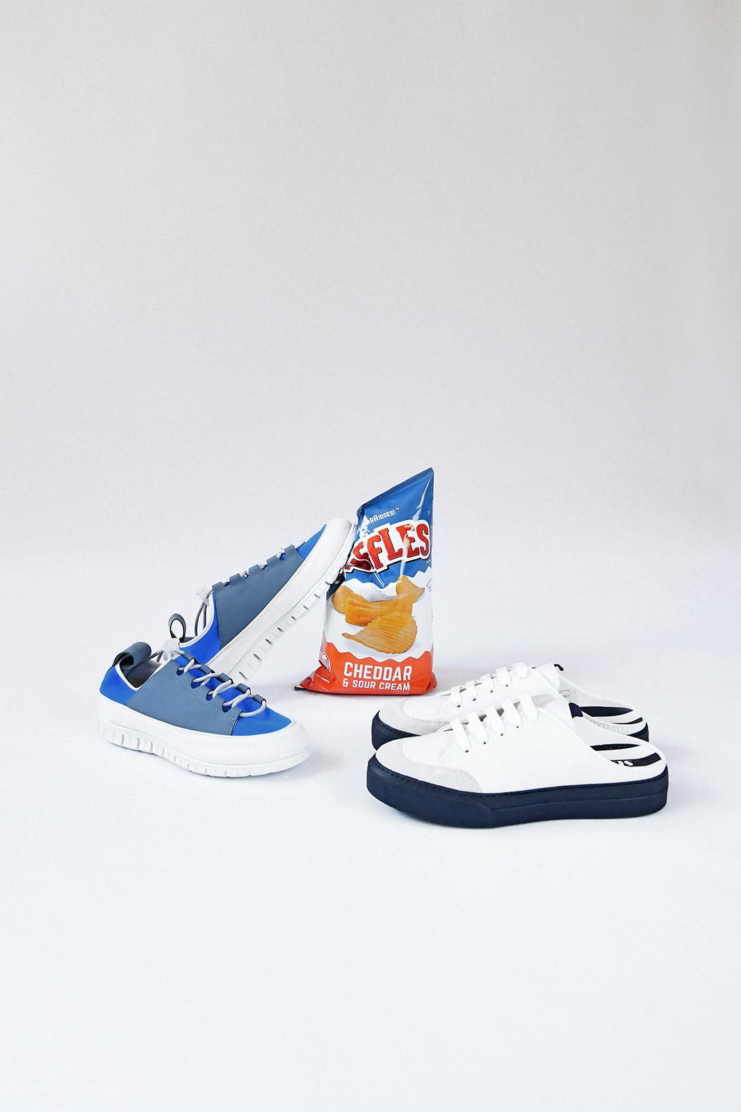 左/SUNNEI 機能運動球鞋 , 右/SUNNEI 藍&白休閒鞋