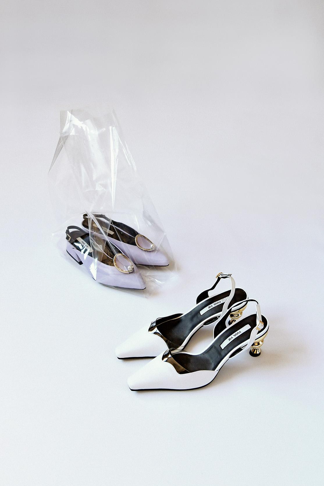 前/ YUUL YIE 造型金跟鞋  , 後/ YUUL YIE 粉紫金扣低跟鞋