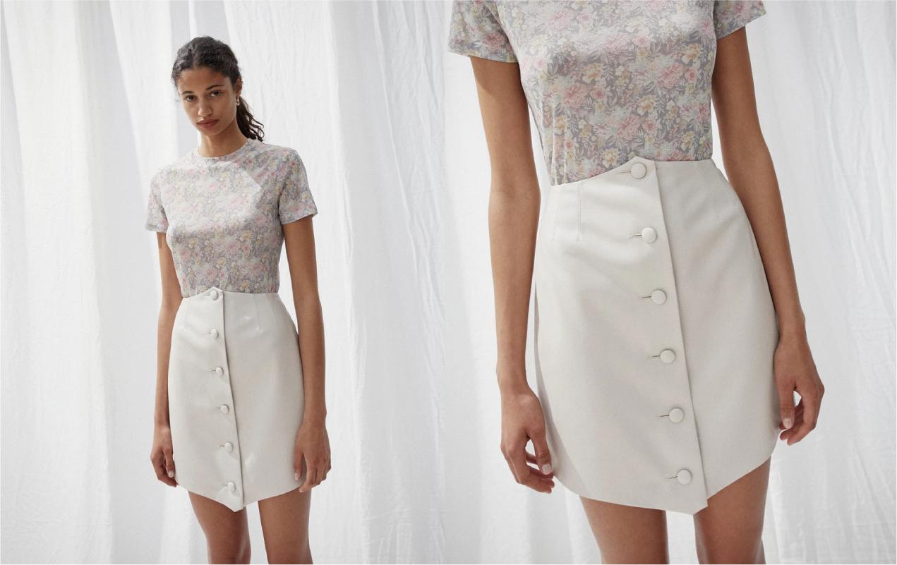 NANUSHKA - button up mini skirt