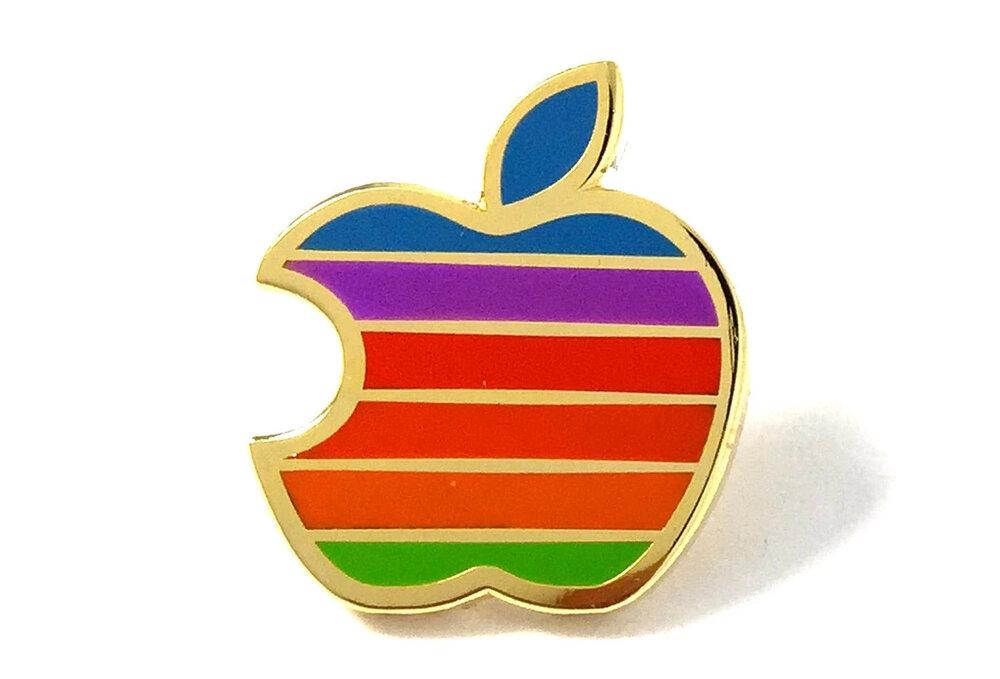 PINTRILL 彩色蘋果LOGO別針