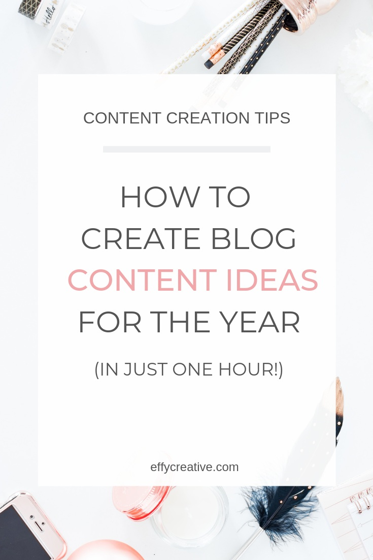 Struggling to come up with blog post ideas for your business? Here are five content creation ideas you can use to create content for your online business in just one hour! #blogpostideas #contentcreationideas #contentcreationonlinebusiness #onlinebusinesstips #contentcreationblogtips