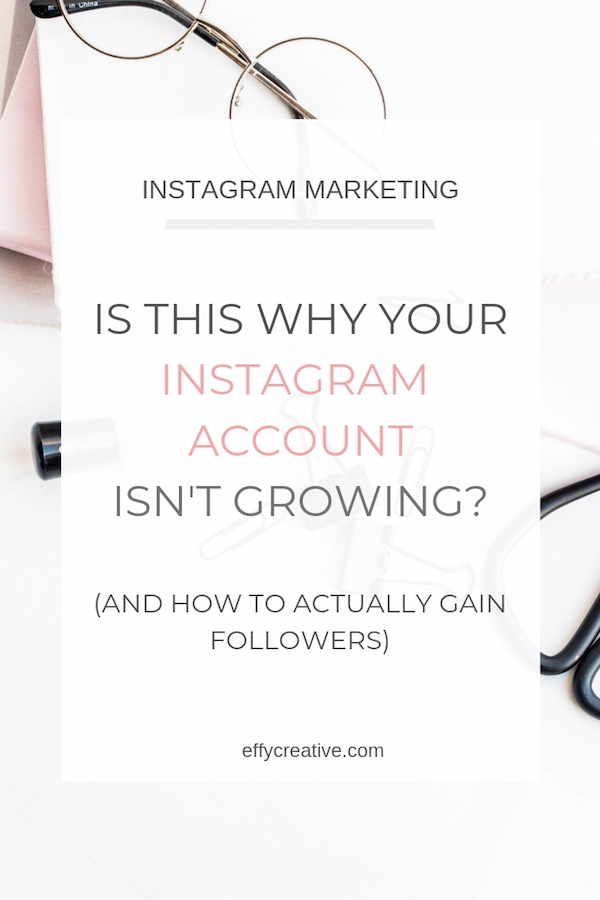 Want to know how to gain Instagram followers? This could be the reason your Instagram account isn't growing! #howtogaininstagramfollowers #instagramforbusinesstips