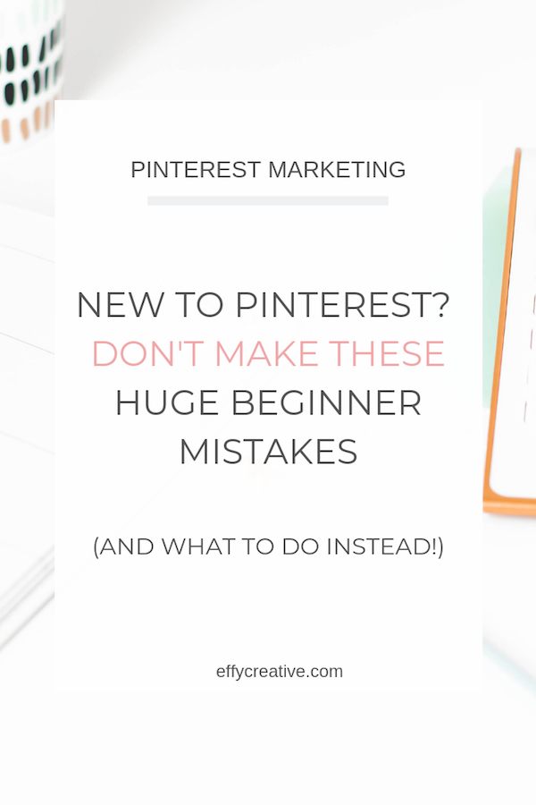 New to Pinterest marketing for business? Don't fall victim to these Pinterest marketing strategy mistakes that could cost you views! #pinterestmarketingforbusiness #pinterestmarketingstrategiesforsmallbusinesses
