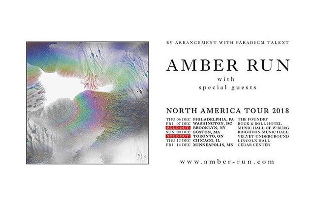 @amberrun North America tour dates are selling fast. Head over to their page for tickets. #amberrun