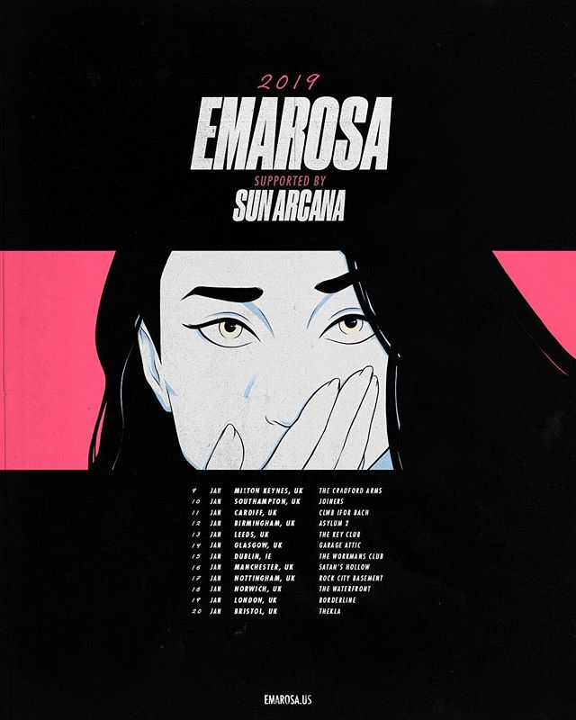 @sunarcana will be hitting the road with @emarosa next year in Jan!