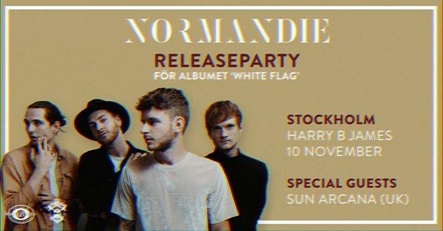 @normandieofficial have announced a release party for their upcoming album 'White Flag' with @sunarcana support! It's gonna be a huge show. #livemusic #gig #rock
