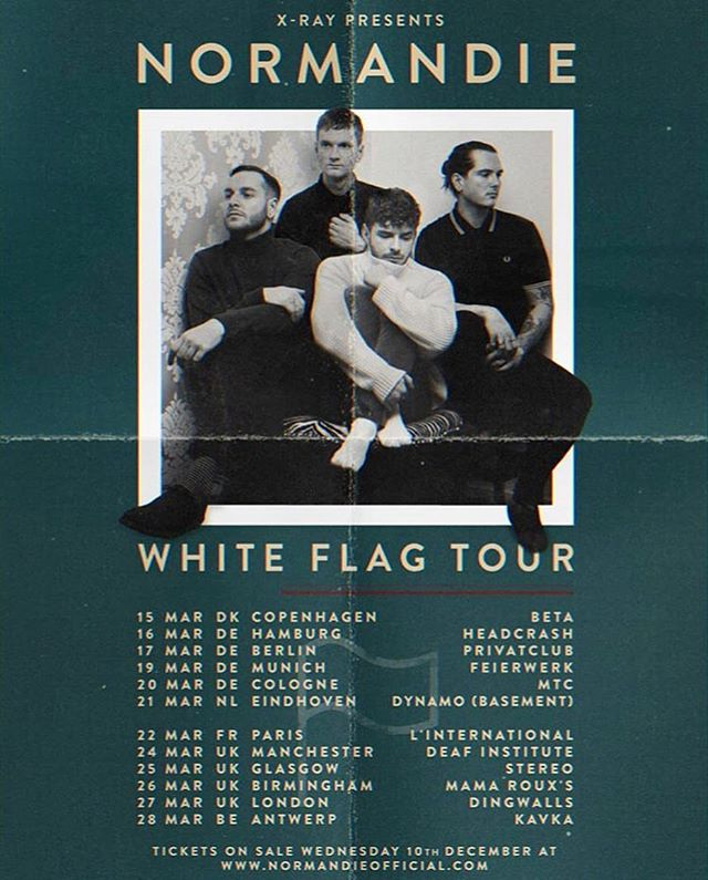 @normandieofficial are going to be touring Europe next year for their new album 'White Flag'!🏳️