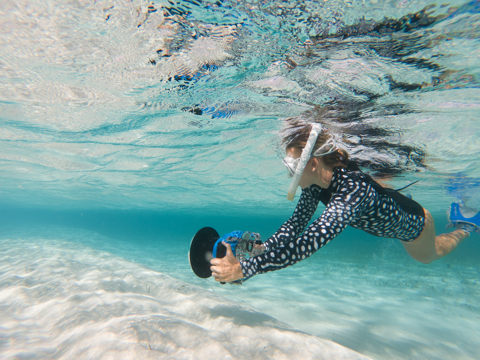 How to shoot in the ocean if you're not a natural water person