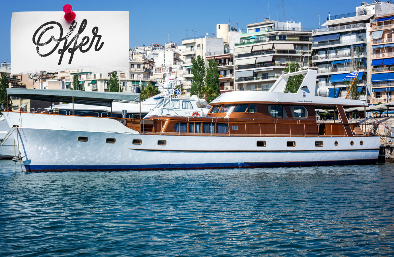 "Greek relaxation and adventure with ""Amanda"" - Amanda is not only a yacht. It is an experience. Meet the greek hospitality on a classic yacht, explore the secrets of the Aegean and Ionian seas and taste the greek cousine under the sun. Your SmartYacht options with Amanda: Acquire a share in this beautiful jewel or bid for an exclusive yacht holiday on the SmartYacht auctions platform >>"