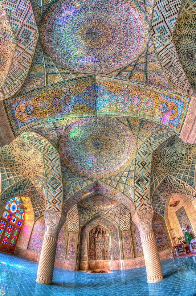 Photograph of Nasir ol Molk Mosque in Shiraz, Iran