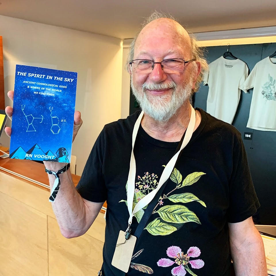 Dennis McKenna with a copy of  The Spirit in the Sky