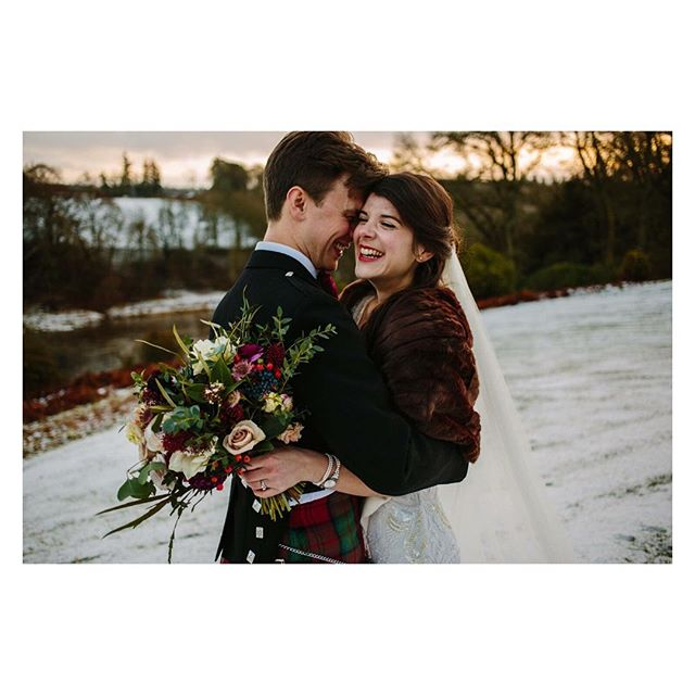 A white wedding! This was such a lovely couple, cheesing away. And this was particularly special for us as it is set in our territory the Perthshire hills. @eilidhsutherlandphotography captured the day perfectly! . . . . . @ballathiehousehotel #winterwedding #whitewedding #coldwedding #mincepies #decthehalls #perthshire #scotland