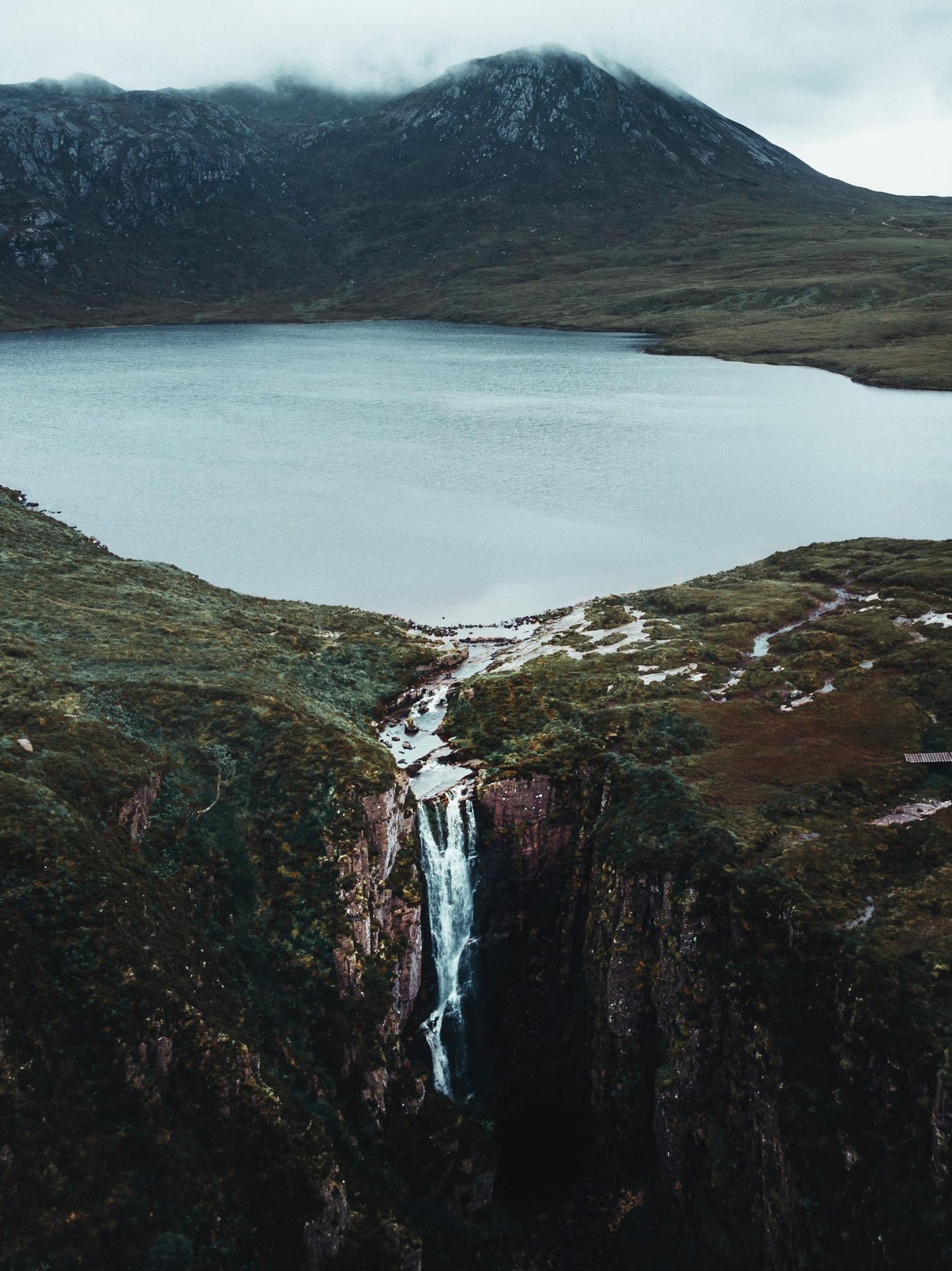 loch na gainmich waterfall