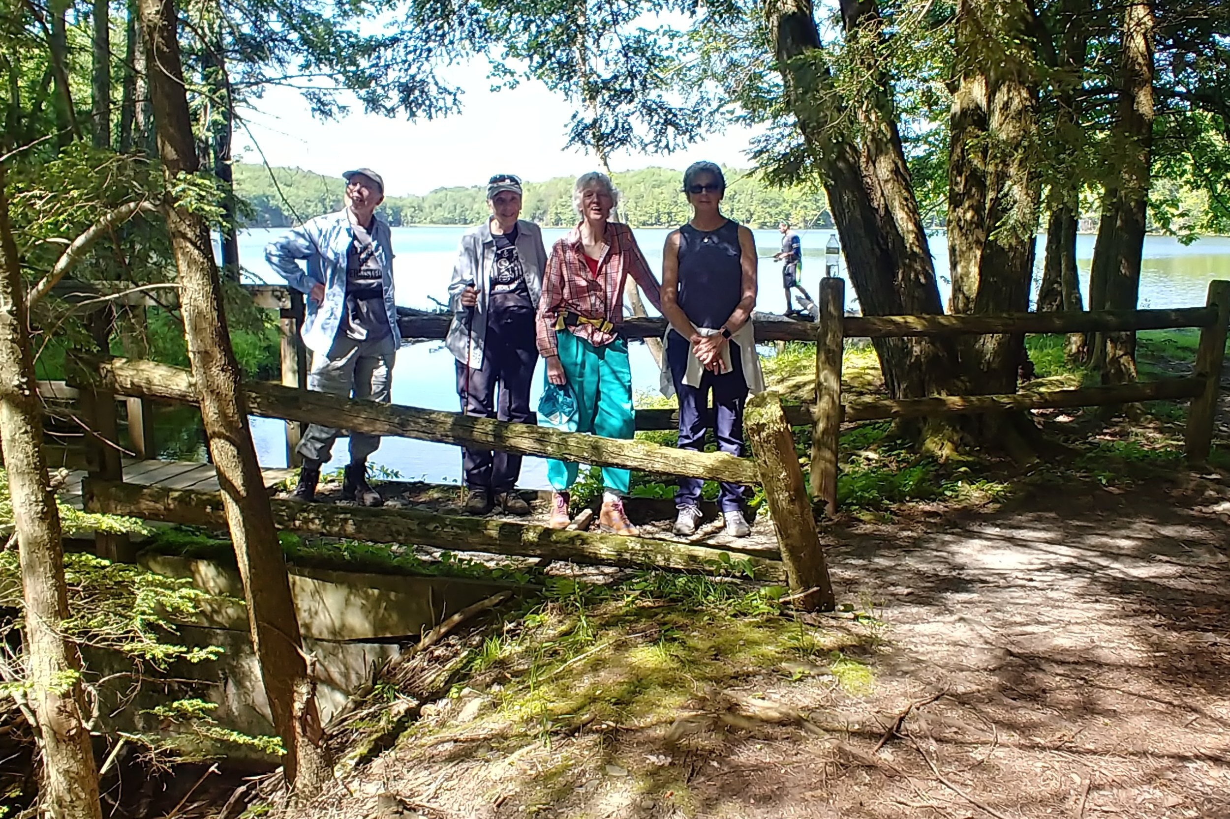 Enjoying a hike around Shaver Pond after the picnic
