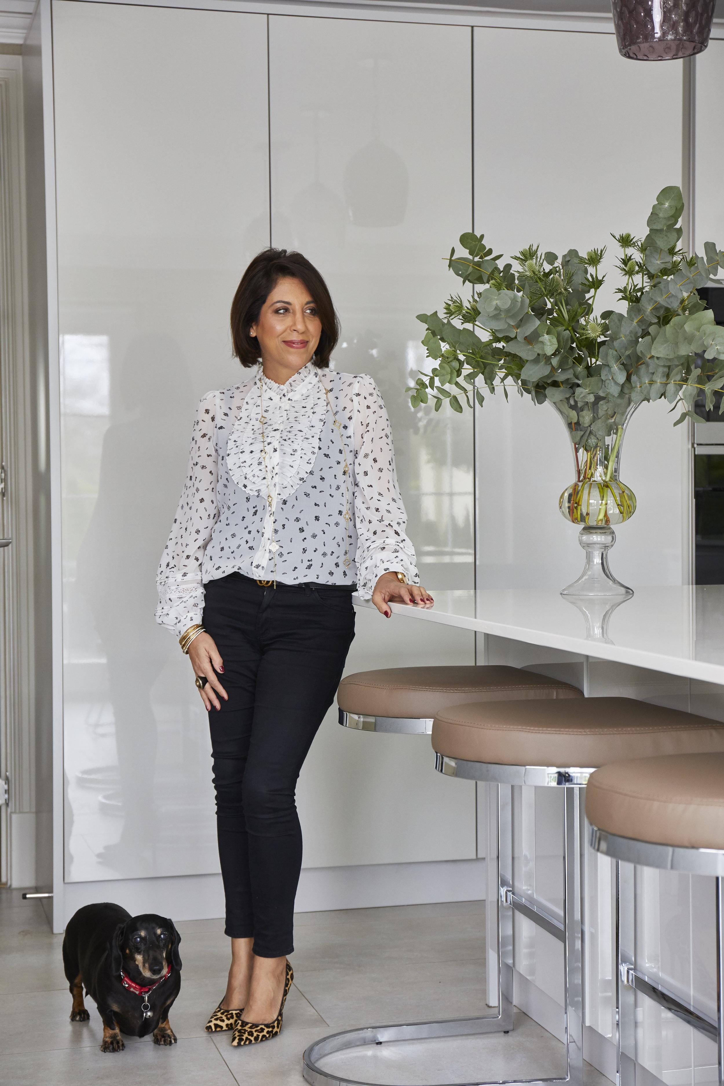 Intern Lola Blossom & interior designer Sonia Adams