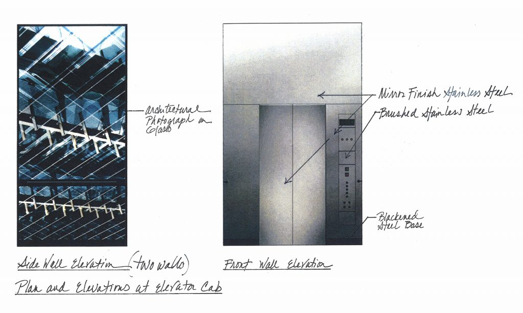 Preliminary design artwork and sketch