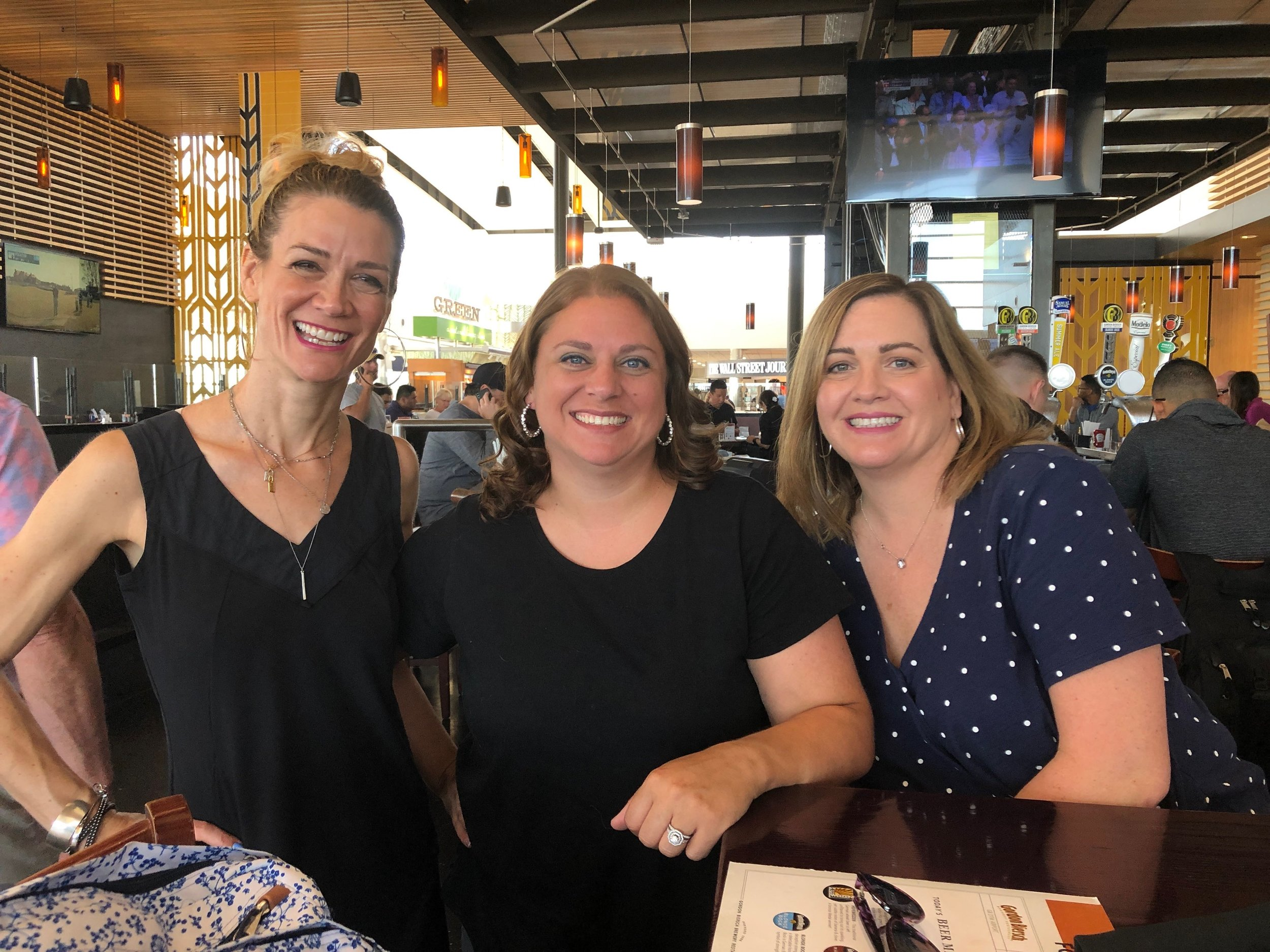 Davis Junior High UEA educators (L to R) Mary Mills, Courtney Moore and Whitney Robertson take a break at AVID Workshop (Photo Courtesy Courtney Moore)