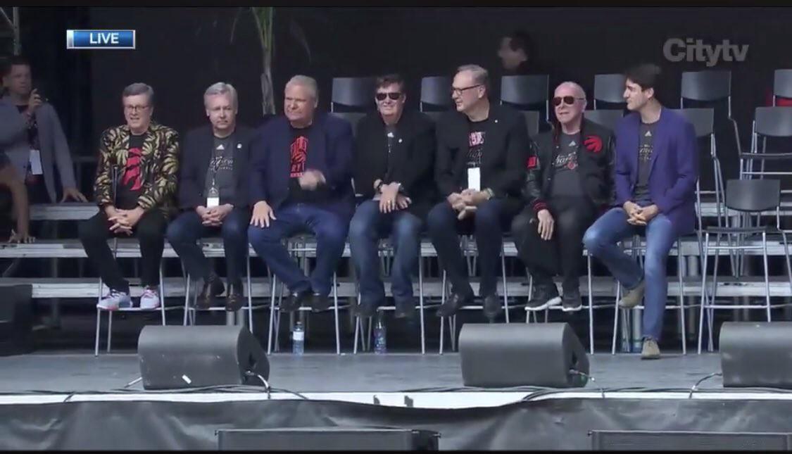 Dignitaries at the Raptors Parade (CityNews Toronto).