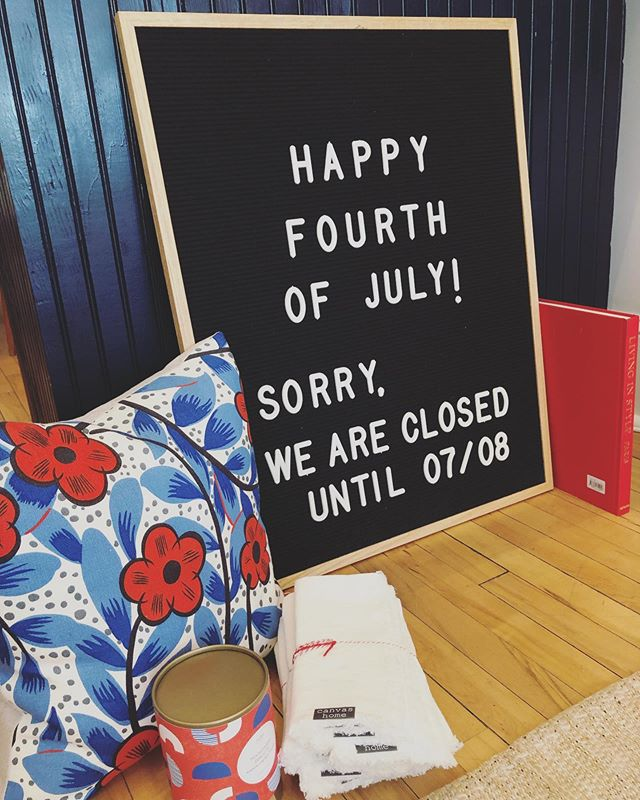 Do you have fun Fourth of July plans? We do! SCOUT will be closed 6/29-7/7!! Safe travels and happy fourth SCOUT followers💙❤️