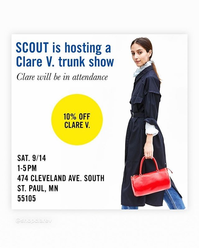 Sooo excited! Can't wait to see you all there! @shopclarev @scout.interiors